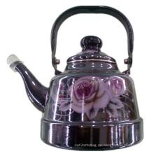 Porzellan-Emaille-Teekanne, Emaillierter Kessel, Emaille, Kohlenstoff-Wasserkocher