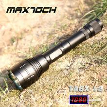 Maxtoch TA6X-12 1000 Lumen Cree 18650 mango Super LED distancia eléctrica carga linterna