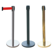 Retractable Barrier Pole hot selling Stainless Steel Retractable Belt Post