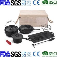 25.5cm High Capacity Cast Iron Dutch Oven Set /BSCI LFGB FDA Approved