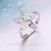 Wholesale newest beautiful charming star shape opal ring