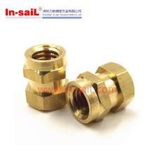 Hex Brass Threaded Insert Nut for Plastic