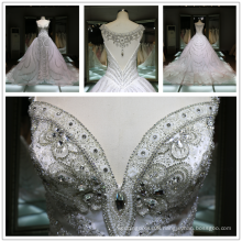 2017 Luxury Hot Drilling Diamond Handmade Heavy Beading Wedding Dress Bling Bling Bling Tiamero 1A843