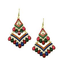 Trendy Bohemia Style Resin Stone Earring (XER13087)
