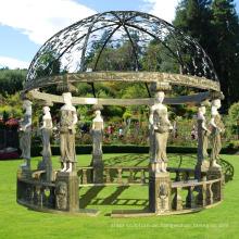 heißer Verkauf moderner Wohnkultur Marmor Carving Garten Luxus Pavillon