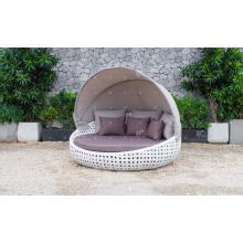 Sofá de cama o cama de sofá de diseño rústico de diseño de estilo clásico para patio de jardín al aire libre