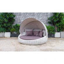 Classy Design Polyéthylène Rattan Sunbed ou Daybed pour jardin extérieur Patio Beach Resort Pool Wicker Furnitre