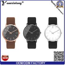 Yxl-339 Fashion Good Quality Watch Quartz Mens Leather Vogue Wrist Watch Custom Design Wholesale Business Men′s Watches