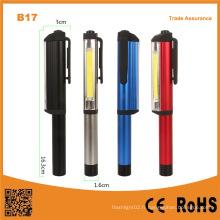Multi-Functional Pen Shape COB Lumière de travail portative LED avec clip magnétique