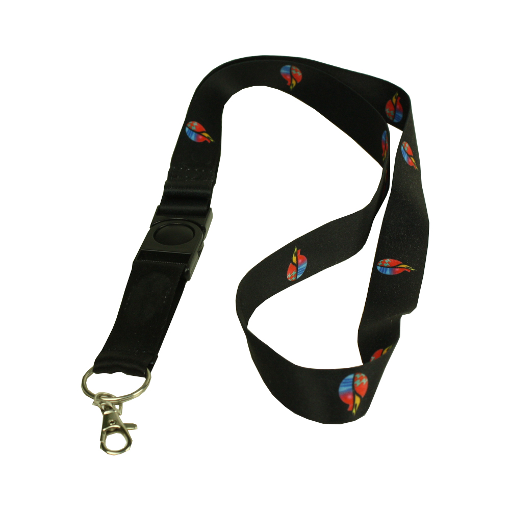 Polyester Lanyard with Custom LOGO and ABS buckle