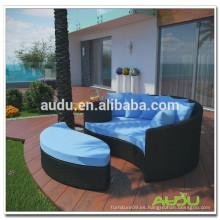 Audu Metal Rattan cama caliente al aire libre de venta al aire libre