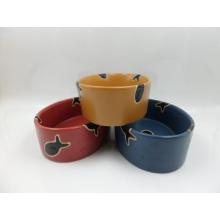 Keramik Glasierte Katze Schüssel