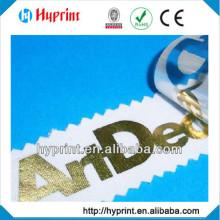 Customization Tagless Heat Transfer label