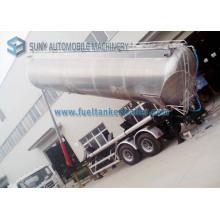 45000 Liters Honey Lifting Tanker Trailer, Tandem Axle Food Grade Aluminum Tank Truck Trailer