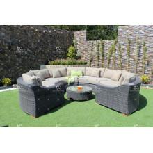 ALAND COLLECTION - El más vendido diseño especial de resina de ratán sofá C para el uso al aire libre o muebles de sala de estar de mimbre