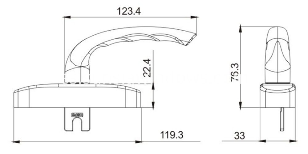 New and High Quality Silver Aluminum Handle Drawing