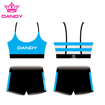 Anpassbare Streifen Sublimated Cheer Outfits