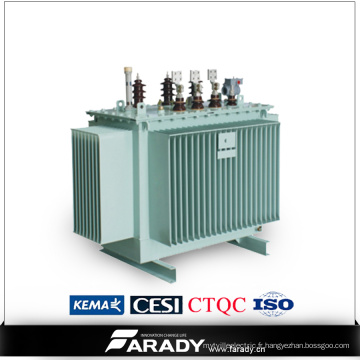 Transformateur de distribution d'énergie immergé de 1500kVA