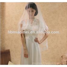 La version coréenne de la mariée robe de mariée robe de dentelle en trois dimensions perlée voile de mariage cathédrale