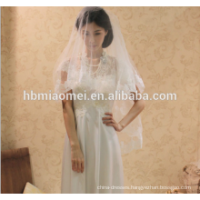 Korean version of the bride wedding dress headdress three - dimensional lace beaded cathedral wedding veil