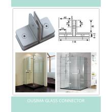 Braçadeira de vidro do banheiro do banheiro de 180 graus (CR-G29)