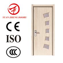 Porta de madeira moderna Porta de madeira barata com fechadura de porta