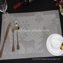 hot sale& whosale felt snowflake christmas pvc placemat