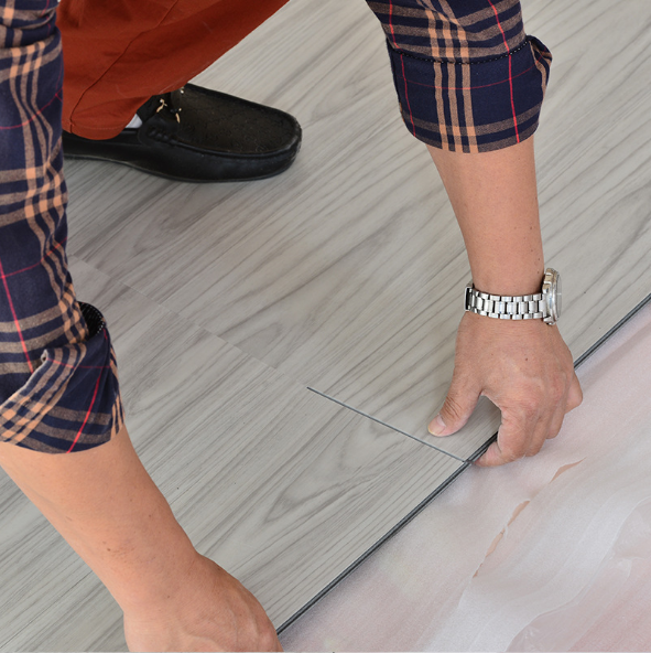 The installation method of PVC floor.