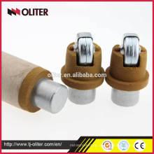 Misturador de imersão de fundição redonda oval redondo duplo para aço fundido