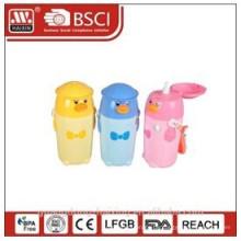 Kunststoff Kinder Flasche, Wasserflasche, Kinder Flasche mit Stroh, 0,4 L 0,55 L