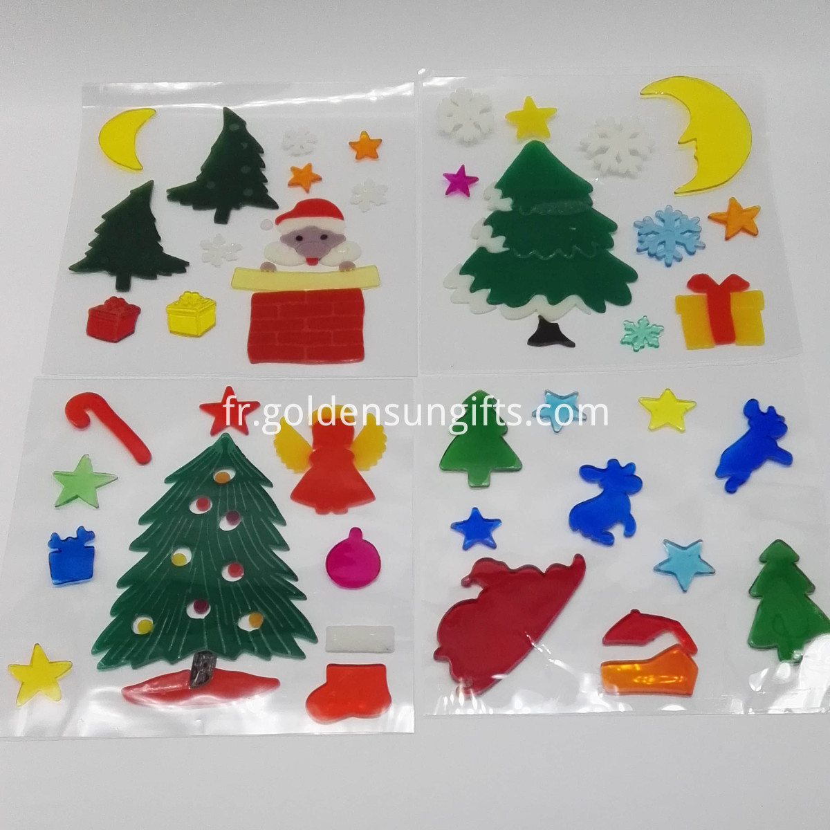 christmas gel stickers