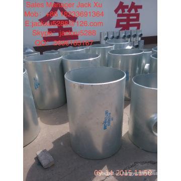 Código de cabezal cuadrado y lista de precios de acero al carbono con revestimiento de teflón tipo brida