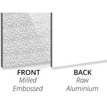 Panneau composite en aluminium texturé en relief / aluminium
