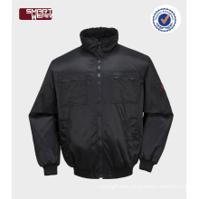 Mens TC winter bomber workwear jacket with reflective pipe