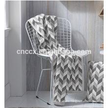 PK17ST379 home textile jacquard three colour diamond patterns cotton cashmere blankets