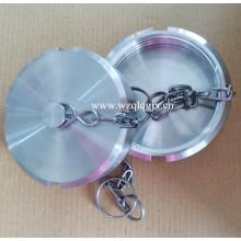 DIN-13rbn en acier inoxydable Sanitaire en blanc aveugle noix avec chaîne