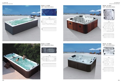 Hot sell CBM H-5501 multifunction Outdoor massage hot-tub swimpool Luxury function bathtub outdoor Whirlpool
