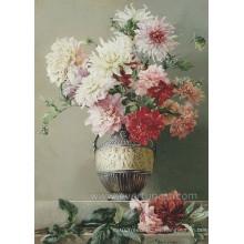 Decoración para el hogar Arte de la pared Flor Pintura Acrílica