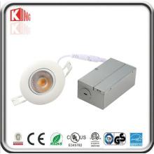Mini diodo emissor de luz Recessed ajustável Downlight do ângulo da estrela da energia com caixa de junção