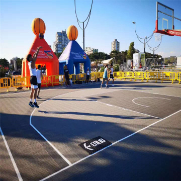 3X3 FIBA ​​Official Court tuiles Basketball