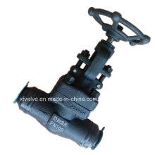 Высокого давления по DIN кованые стальные a105 сварки Клапан углерода