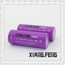 3.7V Xiangfeng 18490 1200mAh 16.5A Batterie au lithium rechargeable Imr 18490