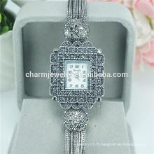 Nouveau design haute qualité en alliage montre bracelet en quartz pour les femmes B033