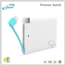 Banque jetable de puissance de chargeur de batterie de carte de crédit bon marché