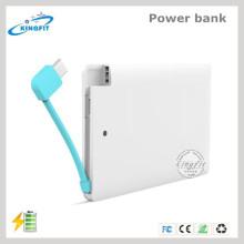 Banco descartável barato do poder do carregador de bateria do cartão de crédito