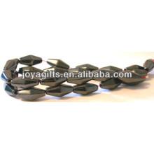 Natural de alta qualidade 8 * 12MM hematite solta contas para fazer jóias