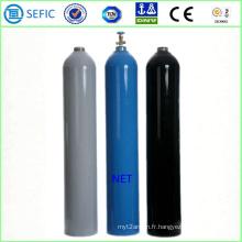 Cylindre de gaz en acier sans couture 50L avec la valve (EN ISO9809)