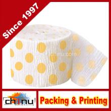 Gelb Polka DOT Krepp Papier Streamer (420050)