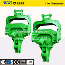 excavator mounted hydraulic vibro pile hammer for construction
