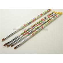 Poignée en plastique 5PCS Nail Art Brush Set